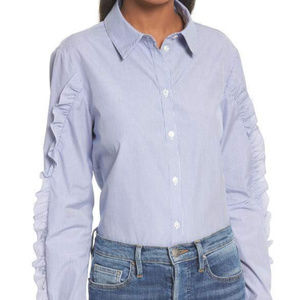 Tibi ruffle shirt size 6 NWOT